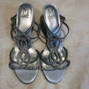 Silver Marinelli Formal Heels